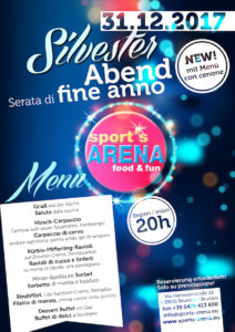 SPORTS ARENA plakat silvester A4 2017